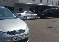 Collecting a VIP from Harrods Aviation Terminal, Luton